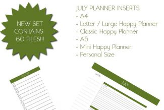 July 2017 Planner Pack