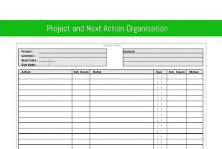 Project and Next Action Organisation