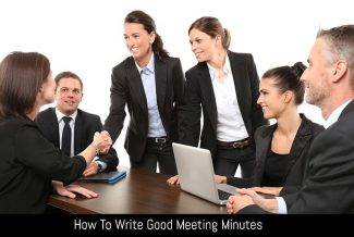 How To Write Good Meeting Minutes