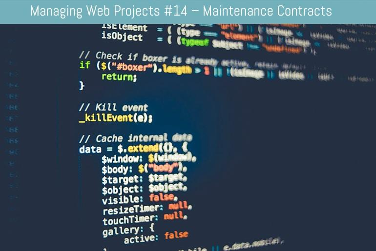Managing Web Projects #14 – Maintenance Contracts