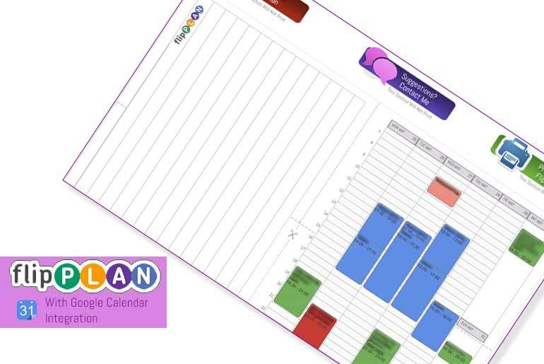 Featured - Flip Plan printable paper planner with Google Calendar IIntegration
