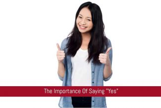 "It's okay to say ""Yes"""