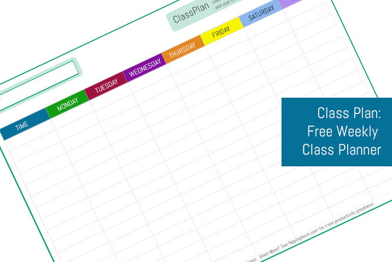 Class Timetable Planner