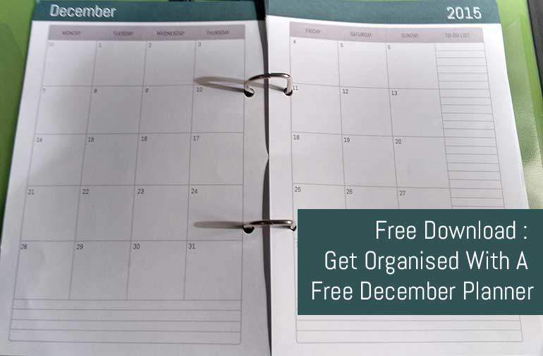 Free December Calendar Download