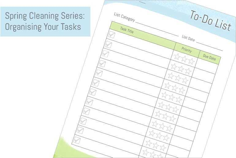 Featured Spring Clean: Organising Tasks
