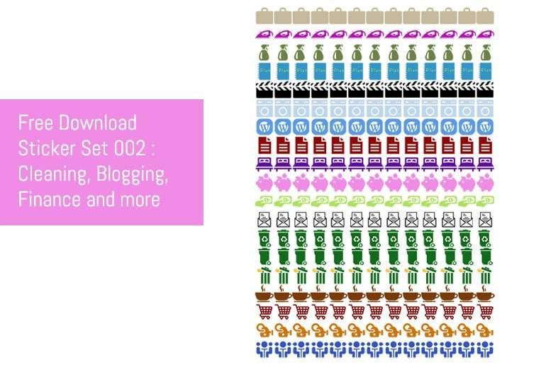 Sticker Set 002 - Blogging, Finance, Cleaning and More