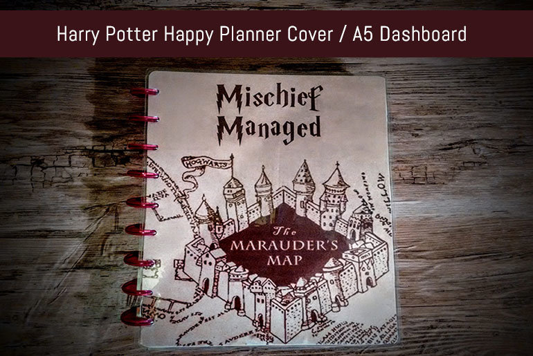 Harry Potter Happy Planner Cover / A5 Dashboard