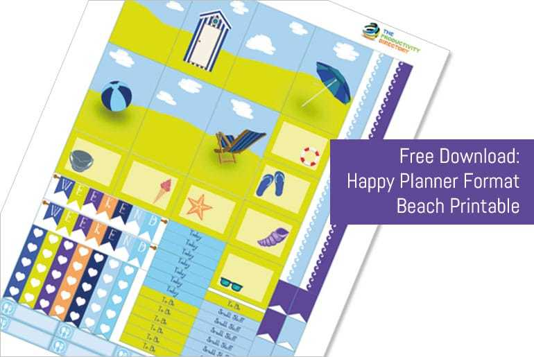 Beach Sticker Set - Happy Planner Format