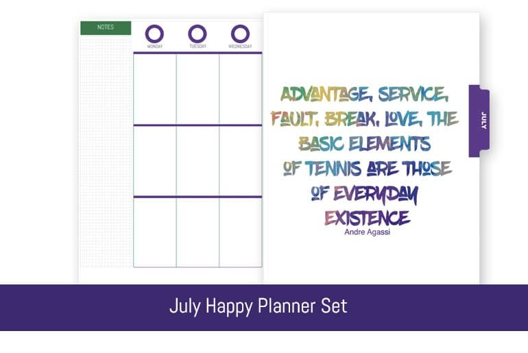 July Happy Planner Set - Free Download