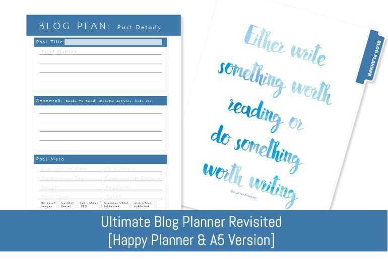 Ultimate Blog Planner [Revised]