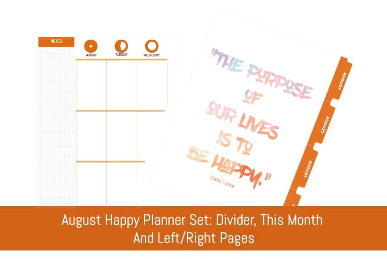 August Happy Planner Set