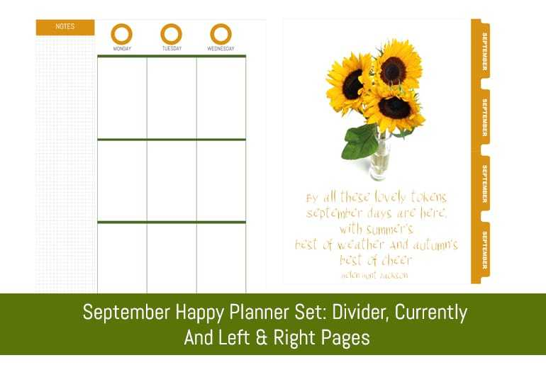 September Happy Planner Set