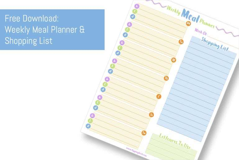 Download - Meal Planner - A4, Letter, A5 and Happy Planner