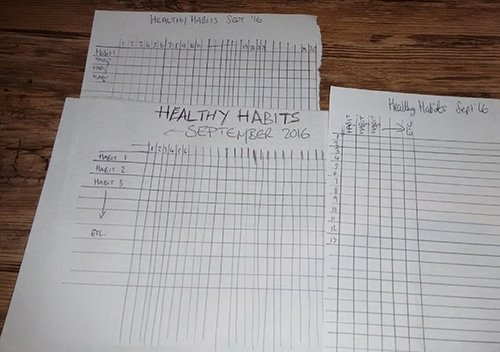 Healthy Habit 1 - Rough Habit Tracker Layour