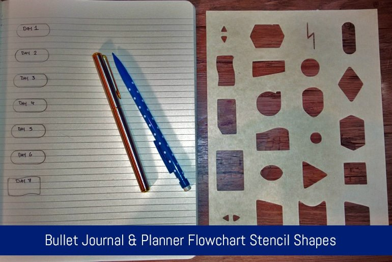 Bullet Journal & Planner Flowchart Stencil Shapes