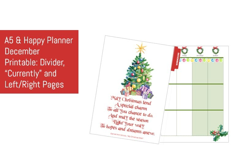 December A5 & Happy Planner Monthly Kit
