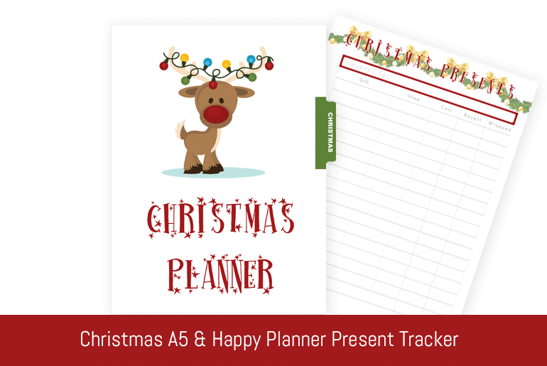 Christmas A5 & Happy Planner: Christmas Present Tracker