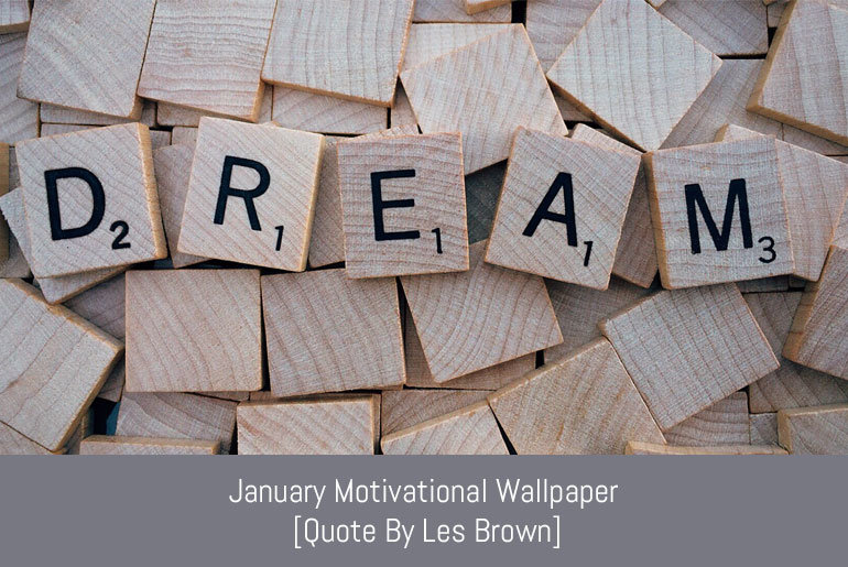 Free Download: January Motivational Wallpaper