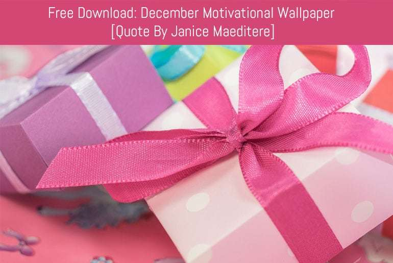 Free Download - December 2016 Motivational Wallpaper