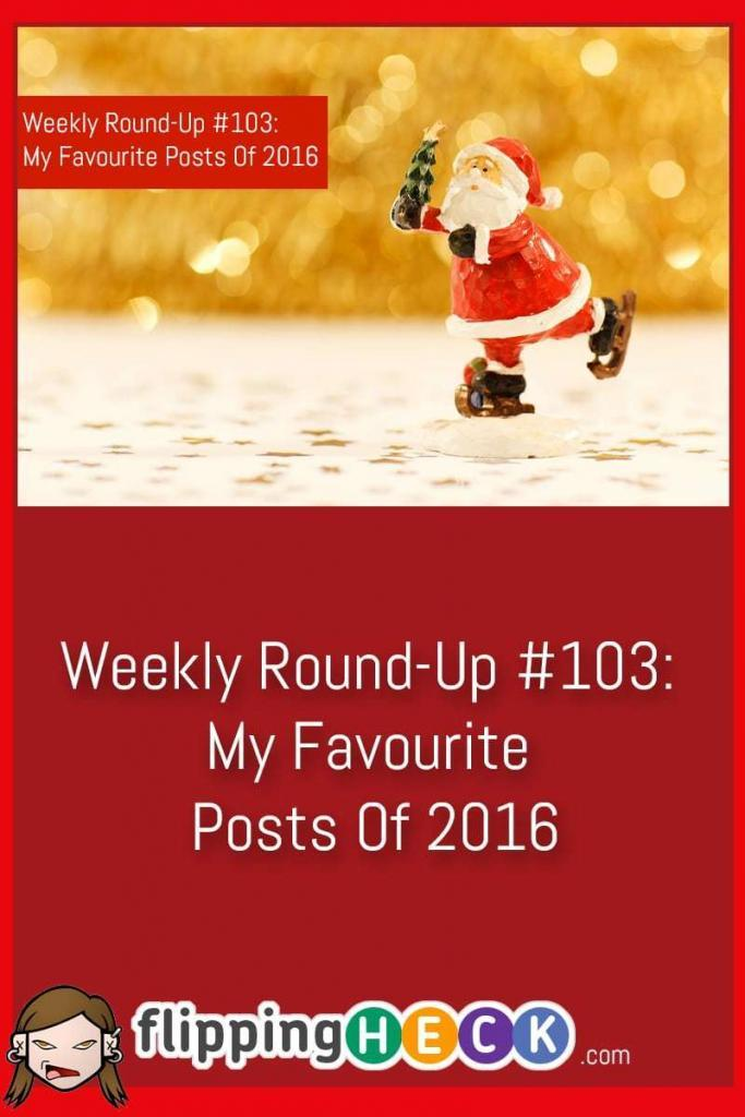 In this weekly round-up I take the opportunity to highlight some of my favourite posts of 2016. Have a look to see if there is a hidden gem you may have missed!
