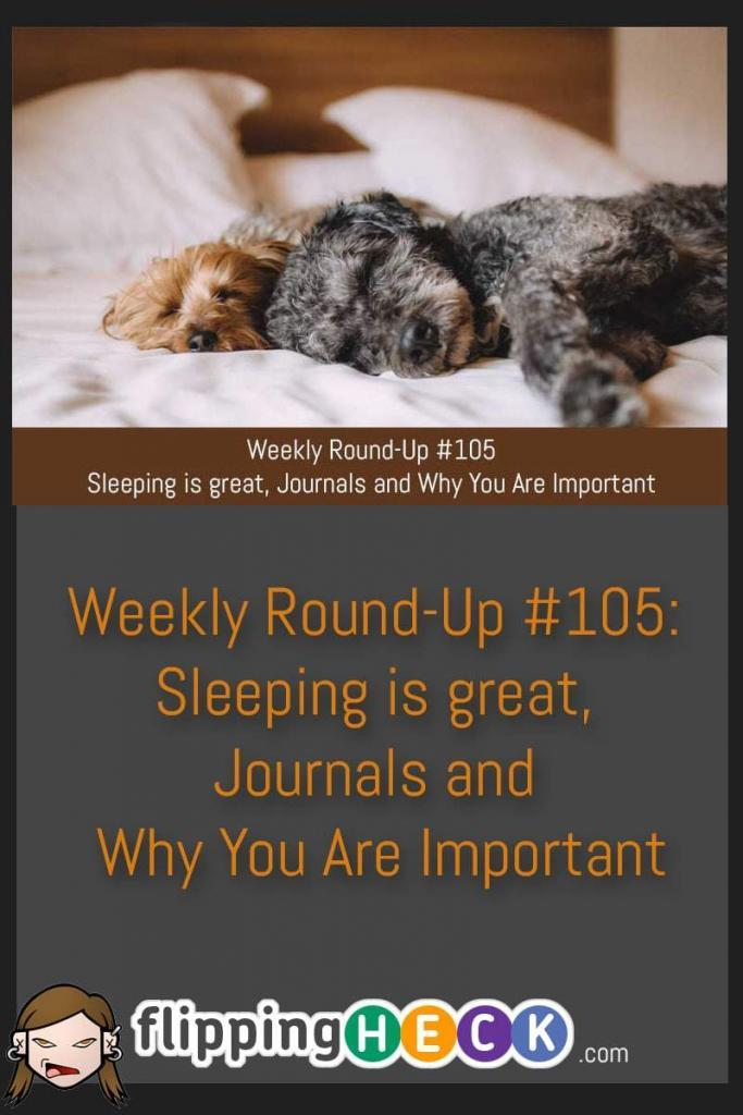 In this week's round-up we look at why sleep is all important, a podcast that you need to subscribe to and you can now see what bullet journals are and how to make them awesome.