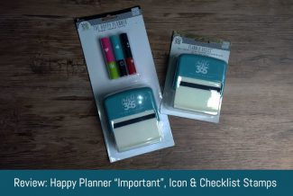 "Review: Happy Planner ""Important"", Icon and Checklist Stamps"