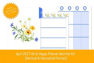 April 2015 A5 & Happy Planner Download