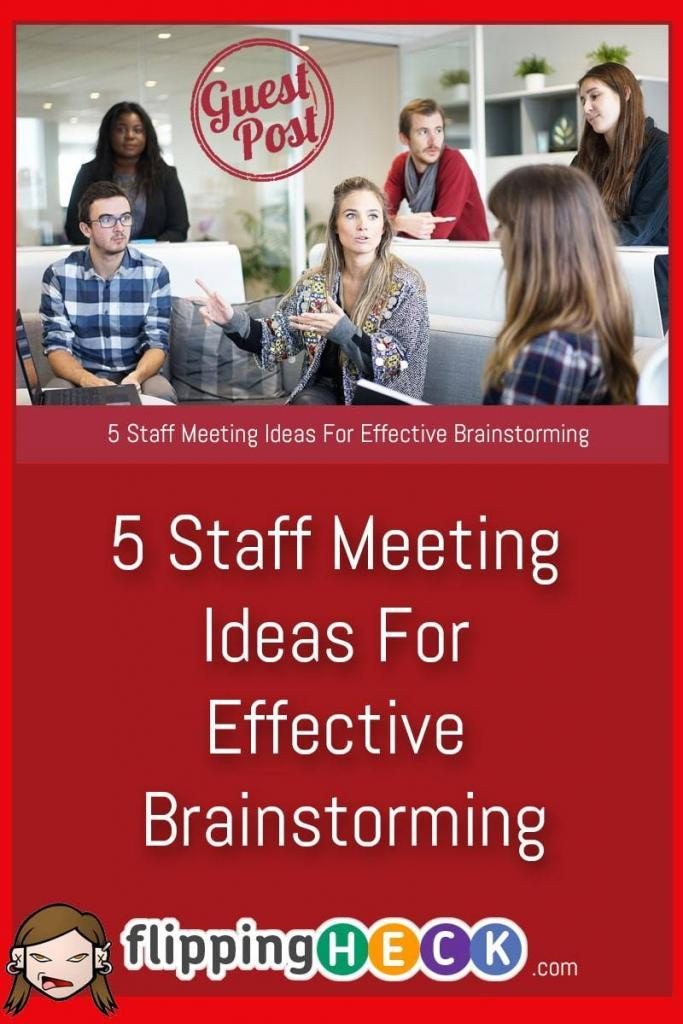 If you work with a small team you'll know that meetings that sometimes can get stale, or worse still are disorganised and drag of for far too long. In this article Delan Cooper looks at some interesting ways to inject a bit of fun back into your brainstorming sessions