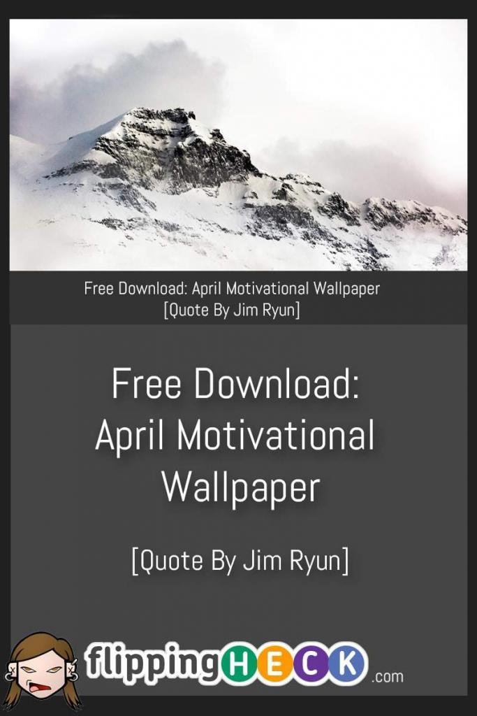 This month's motivational wallpaper quote comes from Athlete and Republican Jim Ryun. I think this month's quote really encompassess our motivational journey.