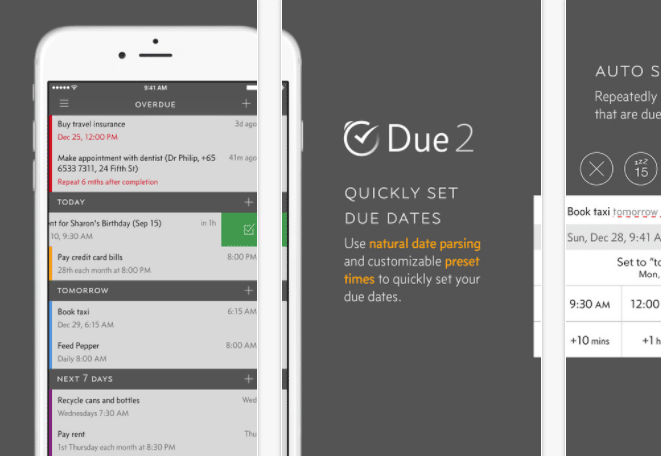 iPhone Reminders - Due App