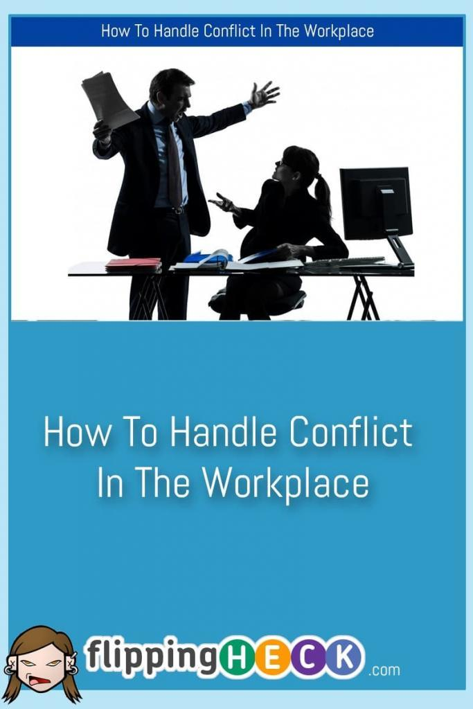 We will all come across some form of conflict at work during our professional lives. Whether it's a conflict between other co-workers or something that we are directly involved in, it's important to know how to deal with the situation so that it doesn't balloon out of control.