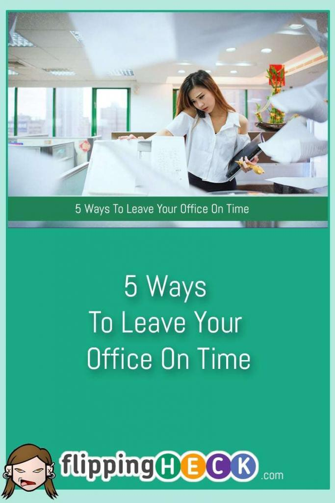 How many extra unpaid hours do you do a week because you can't get away from your desk on time? I'm sure if you sat down and worked it out you'd be shocked! In this article, Tess Pajaron looks at 5 simple ways you can get away from the office on time.
