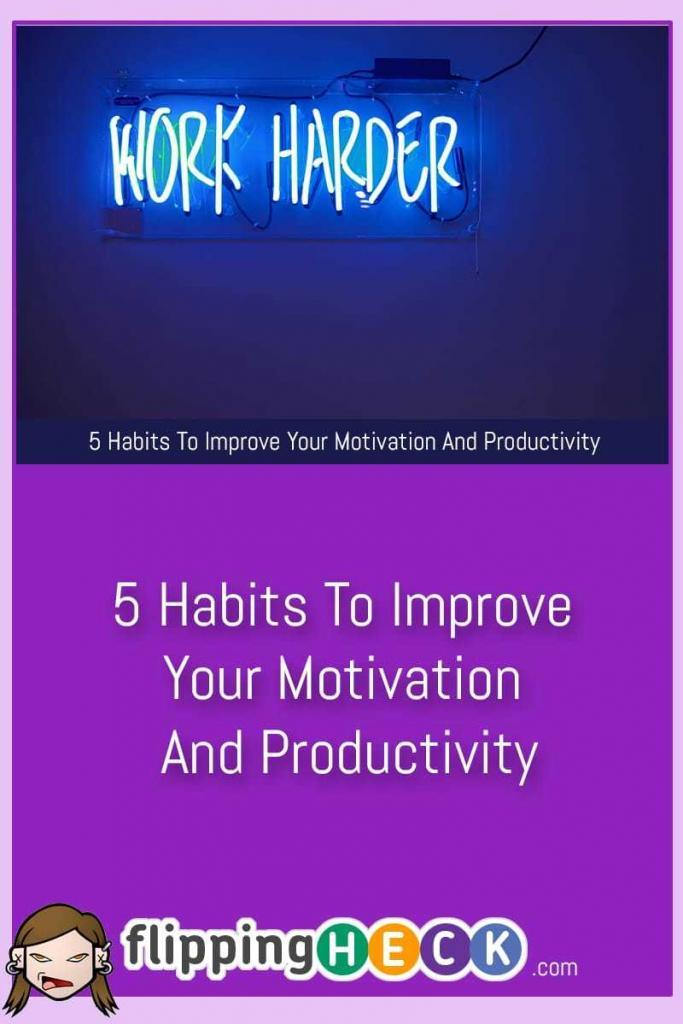 In order to complete your projects you need to maintain a certain level of productivity and motivation. This article from Stacy Edwards covers 5 simple habits you can build on in order to ramp your productivity up to the next level.