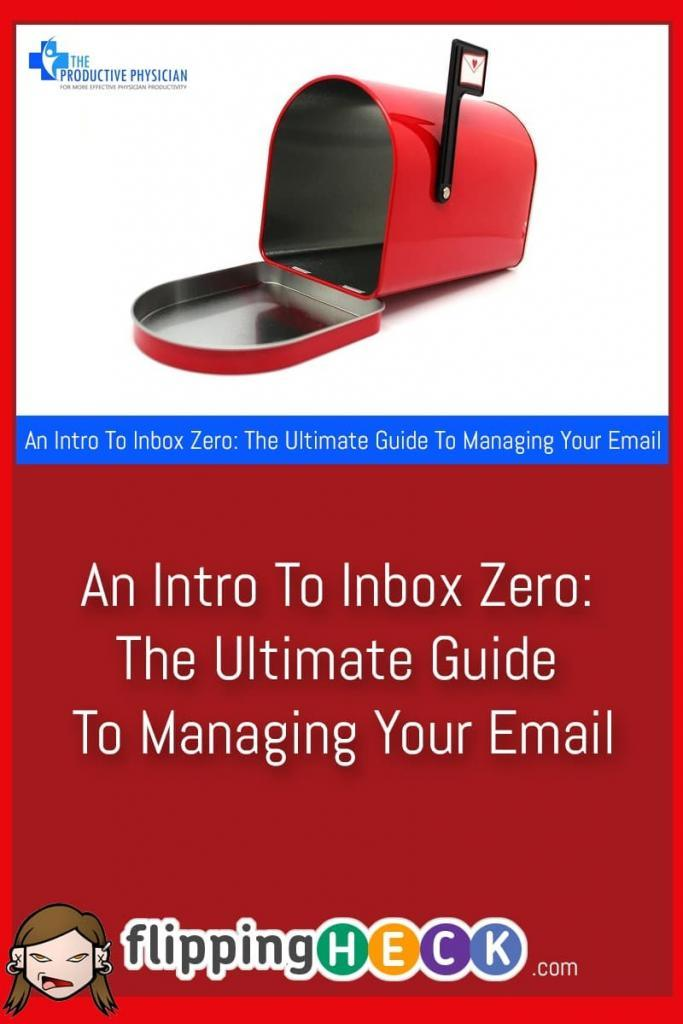 I asked Mark Lavercombe, also know as the Productive Physician to write an introduction to his fantastic guide to Inbox Zero. If you're looking to manage your email more efficiently you can't go wrong with reading Mark's great article.