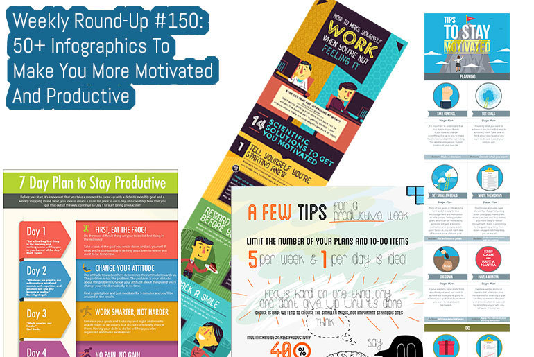 Weekly Round-Up #150: 50+ Infographics To Make You More Motivated And Productive