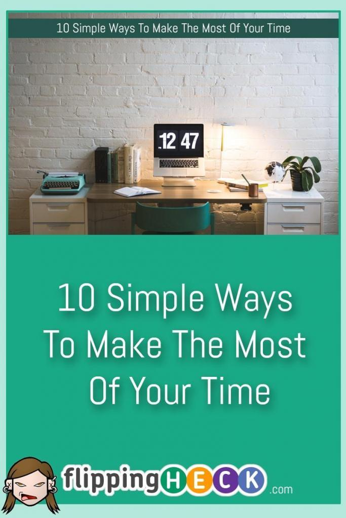 Are you being as productive as you could be? Rachel Summers gives you 10 simple tweaks you can use to make your daily routines more efficient. These tips will help you make the most of the time you have available, cause you less stress and make you super productive.