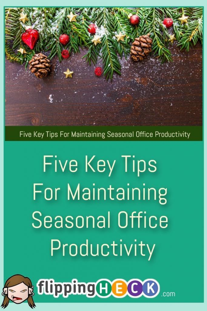 Whatever the time of year, encouraging your employees to be more productive always has to be high on any list of business owner's priorities and there are a few techniques you can use to ensure that you help make your worker's lives at the office as easy as possible. In this article Kevin Pratt covers 5 tips to improve productivity over the Christmas period - and beyond.