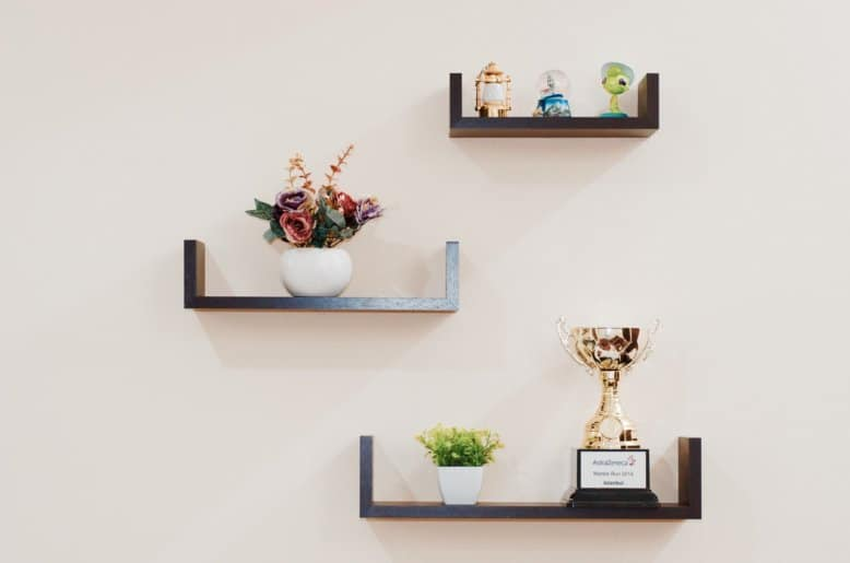Invisbile shelving can be used when a standard unit won't fit