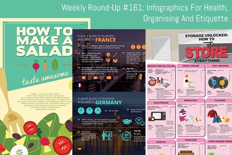 Weekly Round-Up #161: Infographics For Health, Organising and Etiquette
