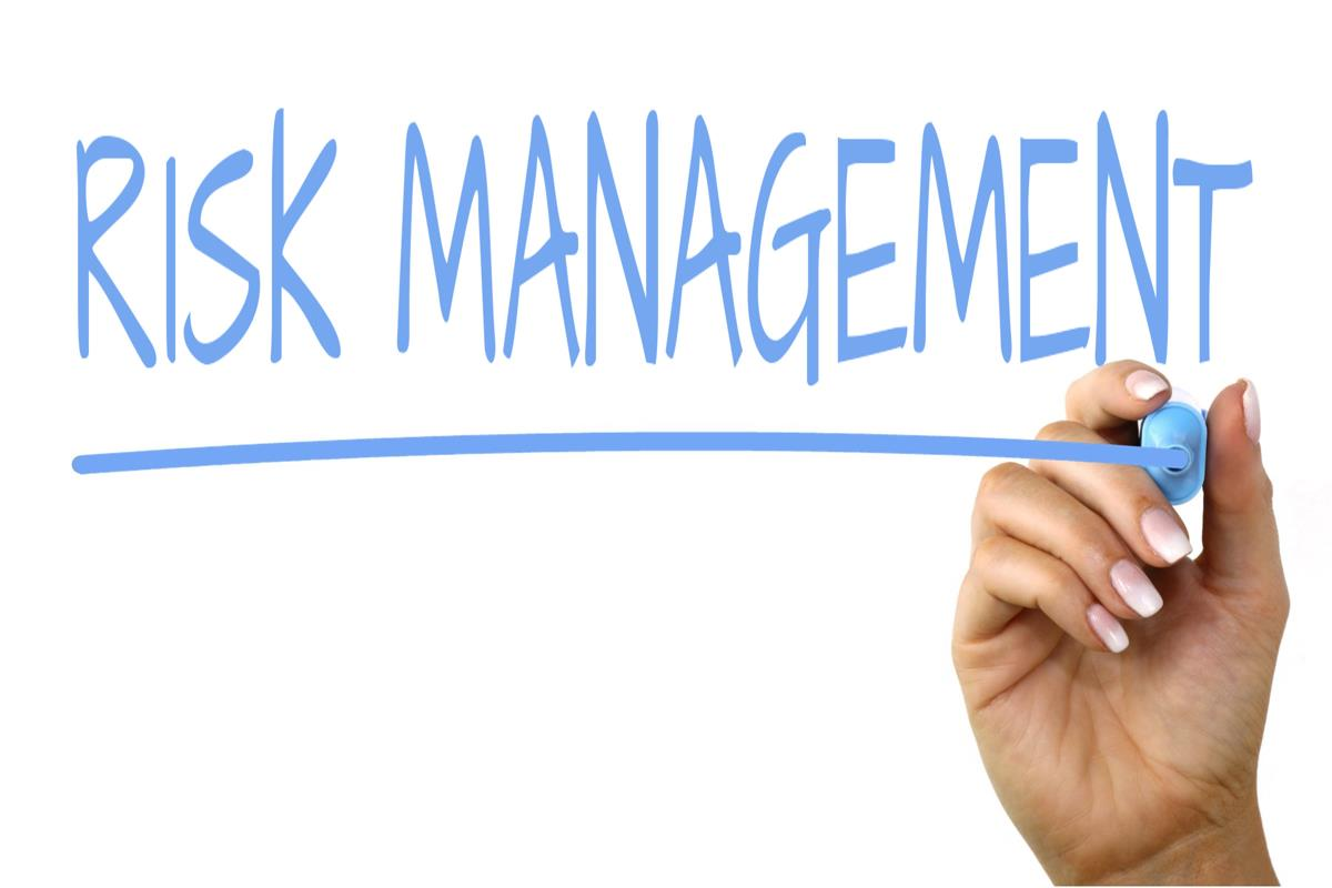 Risk management written in pen
