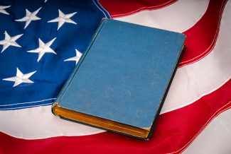 Vintage book on the American Flag