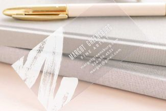Transparent Business card and gold pen